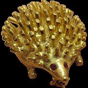 Darling Vintage Whimsical Porcupine Brooch