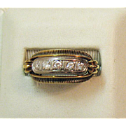 SOLD Vintage Pinter Family Estate 14K 585 Antique Diamond Ring ~Hallmarked JPK