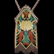 Gorgeous Vintage Signed Mandalian Mesh Bag