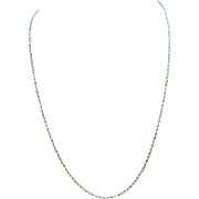 SALE Vintage Estate 12K White Gold 24 Inch Long Chain Necklace