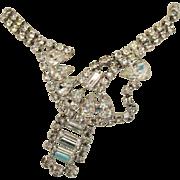 Breathtaking Vintage Abstract Crystal Rhinestone Necklace~Runway Worthy