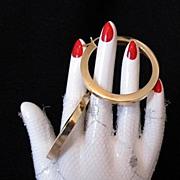 SOLD Vintage Estate 14K Gold Hoop Pierced Earrings Hallmark ED