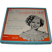 """Vintage Original Boxed Magnetic """"Shirley Temple"""" Paper Doll Set"""