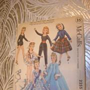 "McCalls Vintage High Heel Fashion Doll Pattern for 10 1/2"" Dolls"