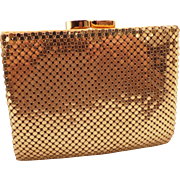 SOLD Vintage Whiting and Davis Gold Mesh Wallet