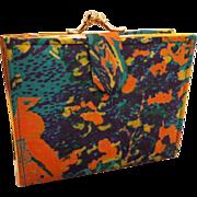 SOLD Vintage Mod Silk Colorful Wallet