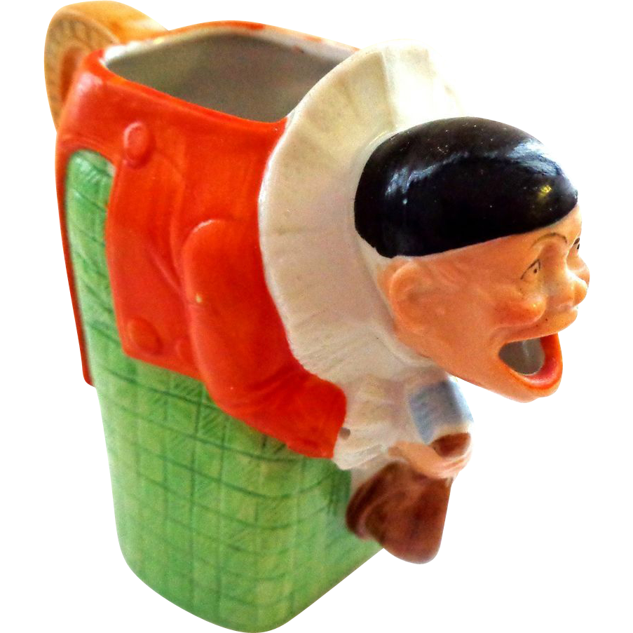 Schafer and Vater Figural Pitcher of Clown/Pierrot