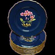 Antique Spode Orchid Plate Odontoglossum Pescatoree (#11)