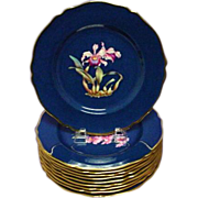 Antique Spode Orchid Plate Loelia Parpurata (#2)