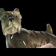 Antique Volkstedt Dog Figurine - Scottish Terrier