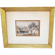 T.Allom 19th C. Tinted Steel Engraving from China Illustrated