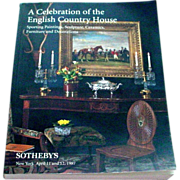 Huge 873 Lot Sotheby's Auction Catalog - A Celebration of the English Country House