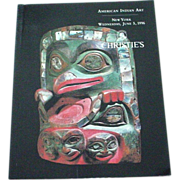 SOLD Christie's Auction Catalog American Indian Art June 1996 NYC