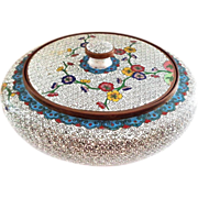 Chinese Export Cloisonne Covered Round Box
