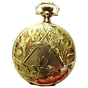 SALE 14K Antique Elgin Pocket Watch - Gorgeous Ladies Watch