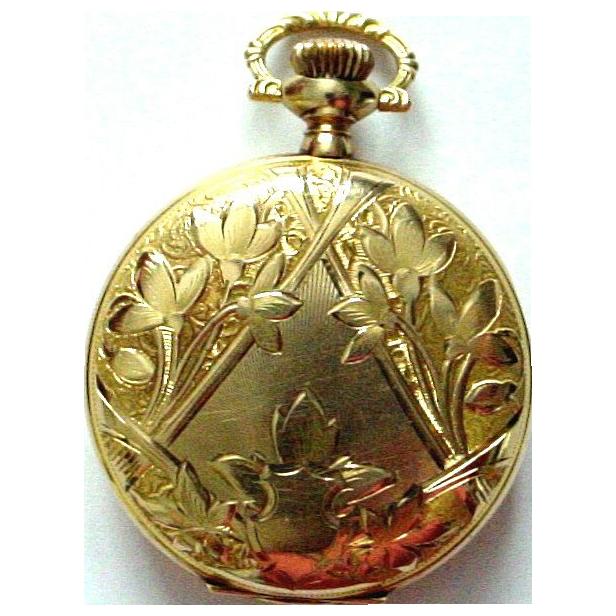 14K Antique Elgin Pocket Watch - Gorgeous Ladies Watch