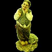 SALE Vintage A. Borsato Italy Porcelain Figurine of Fisherman