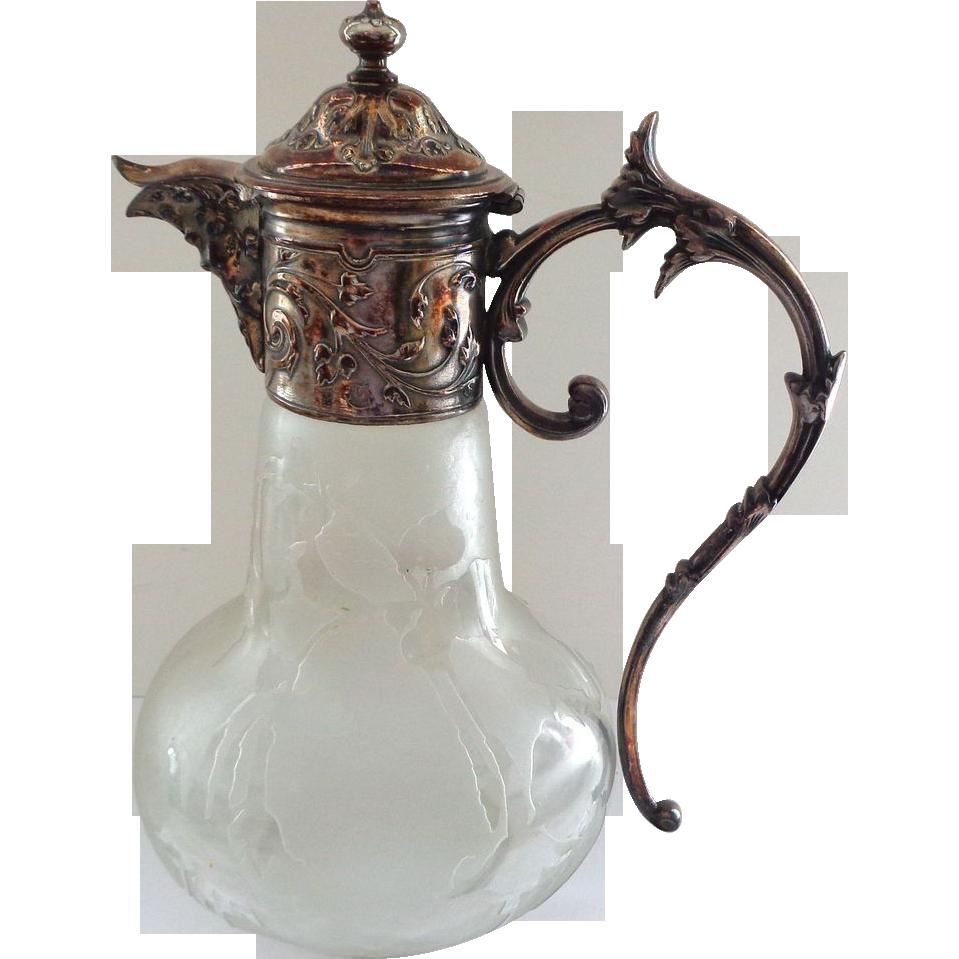 French Christofle Gallia Silver Antique Figural Claret Jug