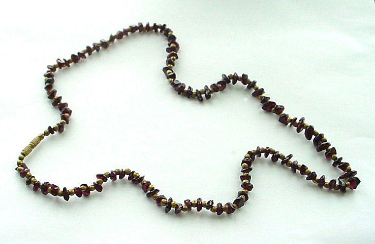 Vintage Garnet Chip Necklace