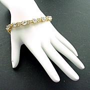 Monet Pear Shaped Faux Diamond Line Bracelet