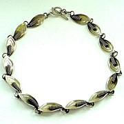 SALE Modernist Danish Denmark Designer Sterling Silver Necklace by A&K