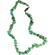 """SALE 16 1/2"""" Turquoise Nugget Necklace"""