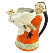 SOLD Schafer & Vater Figural Chinese Man or Woman with Goose Pitcher Creamer - Red Tag Sale It