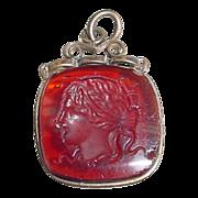 Antique Intaglio of Medusa Fob