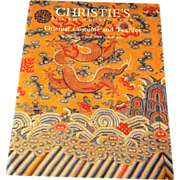 Christie's Oriental Costume and Textiles Auction Catalog from June 1999