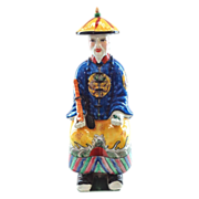 Signed Seated Chinese Empire Figure in Traditional Dress