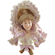 Large, Gorgeous, and Frilly Rudolstadt Bisque Nouveau Lady