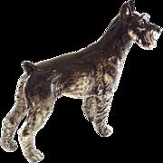 Fine Hutschenreuther Porcelain Schnauzer Dog - Majestic Breed