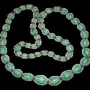 "SALE 27"" Pretty Peking Glass Bead Necklace"