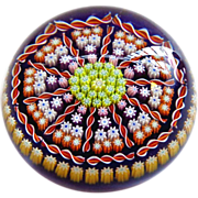 """SOLD Large 3"""" Perthshire Millefiori Paperweight"""
