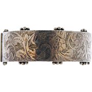 Antique 1905 Sterling Silver Classic Cuff Bracelet