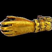 SALE PENDING Antique Bronze Doorknocker in Shape of Lady's Hand with Ball