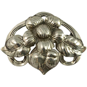 SALE Kalo Hand Wrought Sterling Silver Pin
