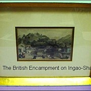 T. Allom 19th Century Steel Engraving, The British Encampment on Ingao Shan from China Illustrated