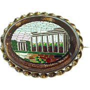 SALE Antique Micromosaic Mosaic Brooch/Pin of Ruins