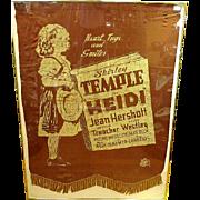 Very Rare Shirley Temple 1937 Promotional Heidi Movie Cloth Banner – 20th Century Fox