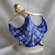 SOLD Erphila  Germany  Art  Deco  Porcelain  Dancing  Figurine