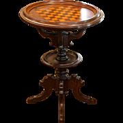 Circa 1870 Victorian Walnut Gaming Table