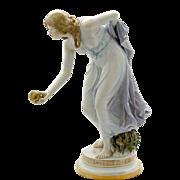Rare Signed Meissen Porcelain Figurine by Walther Schott
