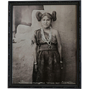 Image Of Native American Indian Maiden Dated 1898 Signed Wharton James