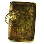 Vintage Signed Austrian Bronze Elephant Tray