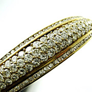 Spectacular 5 Ct. Diamond 18k Bangle Bracelet