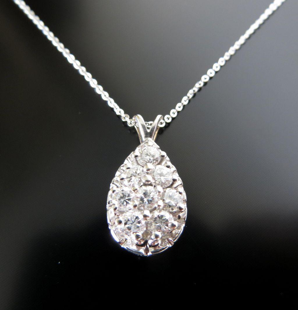 Lady's 14K Vintage Diamond Pendant
