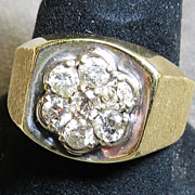 Vintage Gent's 14K Diamond Ring