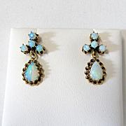 Lady's Vintage 14K Opal Earrings
