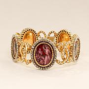 Circa 1900 Art Nouveau 18K Lady's Diamond Bracelet With Neo-Classical Scenes